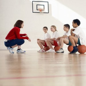 School Children in Physical Education Class